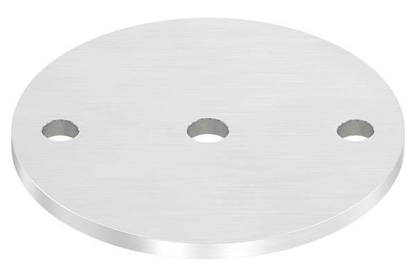 Ankerplatte | Ø 120 x 6 mm | mit Zentrierbohrung: Ø 12,5 mm | V2A