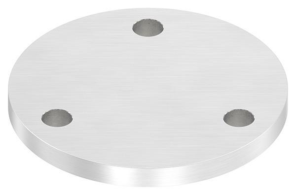 Ankerplatte Ø 120x10 mm V2A mit 3 Bohrungen Ø 13 m