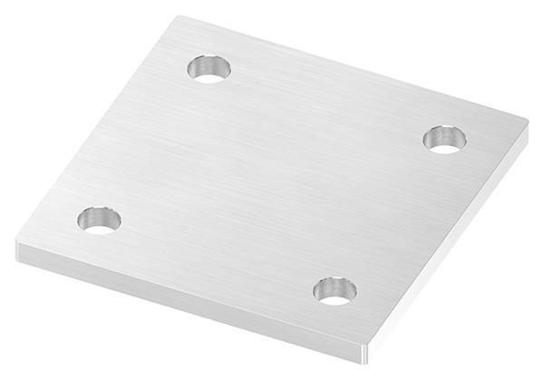 Ankerplatte 120x120x8 mm mit 4x Bohrung V2A