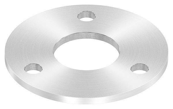 Ankerplatte 120x6 mm mit Rundschliff und Mittelbohrung Ø 48,7 mm V2A
