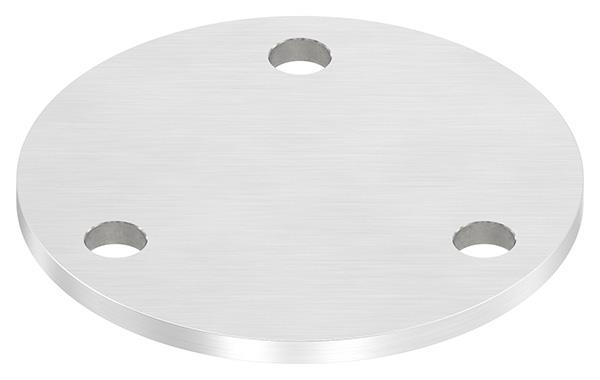 Ankerplatte Ø 120x6 mm V2A mit 3 Bohrungen Ø 11 mm