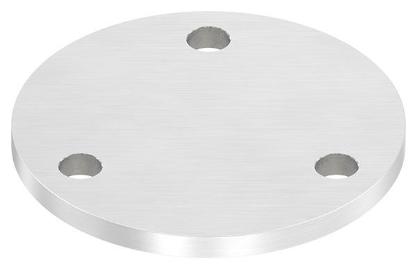 Ankerplatte Ø 120x8 mm V2A mit 3 Bohrungen Ø 11 mm