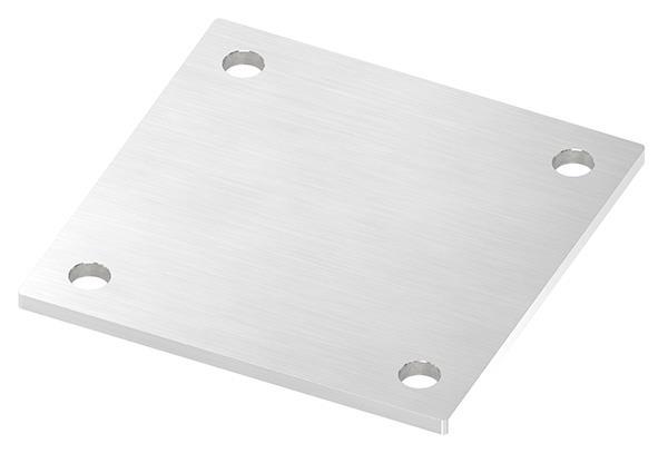 Ankerplatte 150x150x6 mm mit 4 Bohrungen V2A