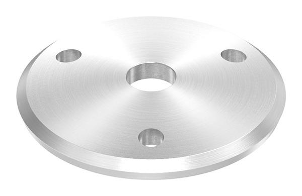 Ankerplatte Ø 70 mm gewölbt mit Zentrierbohrung 12 mm V4A