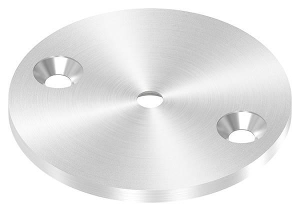Ankerplatte | Ø 70 x 4 mm | mit Zentrierbohrung: Ø 6,5 mm, gesenkt | V2A