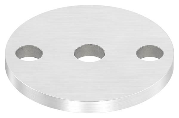 Ankerplatte | Ø 70 x 6 mm | mit Zentrierbohrung: Ø 12,5 mm | V2A