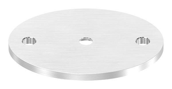 Ankerplatte 75 x 55 x 4 mm oval flach mit Zentrierboden V2A