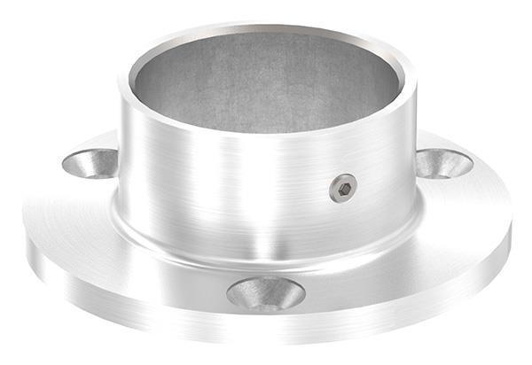 Ankerplatte Ø 80 mm für Rundrohr Ø 42,4 mm V2A