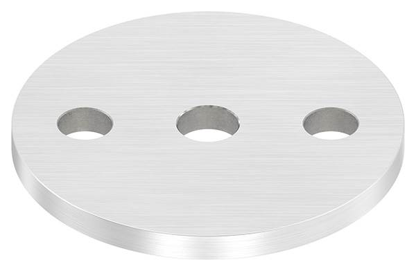 Ankerplatte | Ø 80 x 6 mm | mit Zentrierbohrung: Ø 12,5 mm | V2A