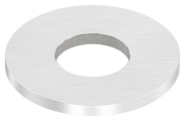 Ankerplatte 80x6 mm mit Längsschliff und Mittelbohrung V2A