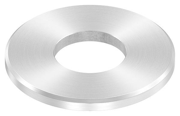 Ankerplatte 80x6 mm mit Rundschliff + Fase und Mittelbohrung V2A