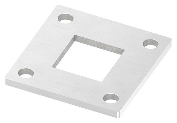 Ankerplatte 92x92x6 mm für Rohr 40x40 mm V2A