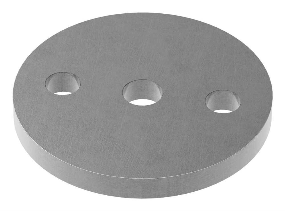 Ankerplatte | Maße: Ø 80x8 mm | Stahl (Roh) S235JR