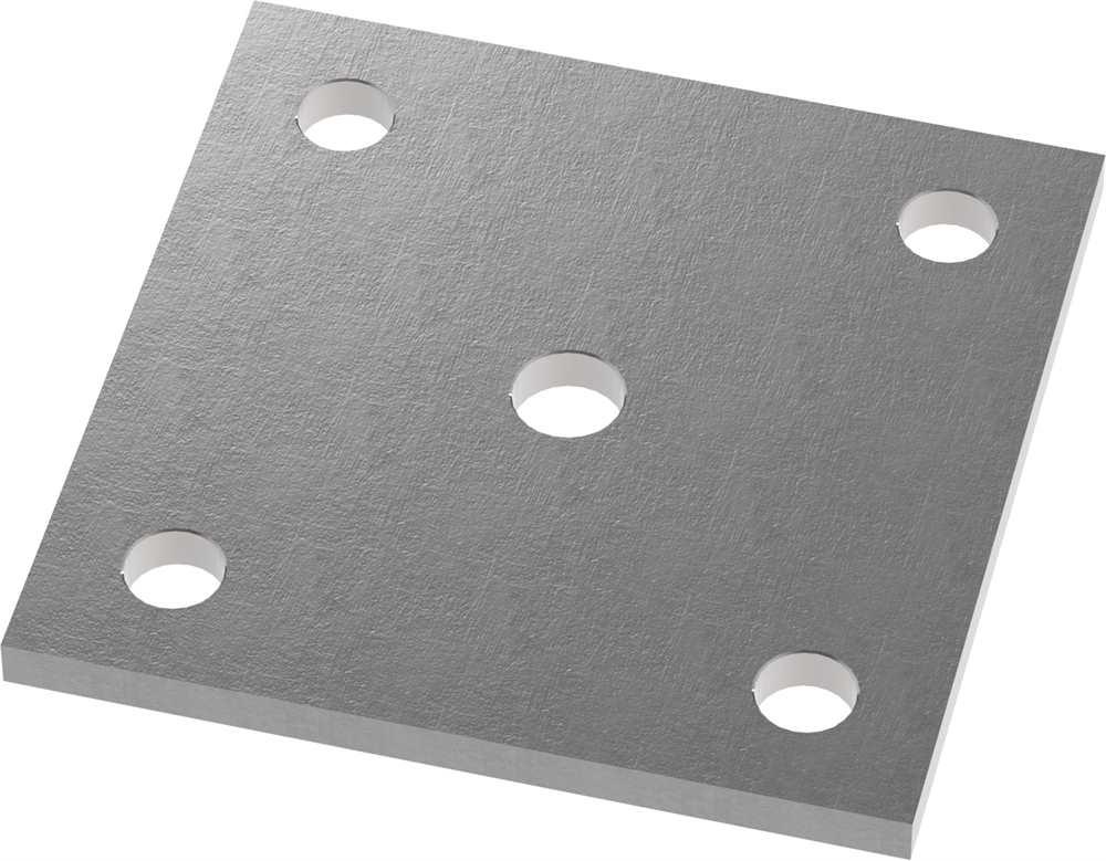 Ankerplatte | Maße: 120x120x10 mm | Stahl (Roh) S235JR