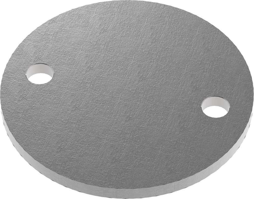 Ankerplatte | Maße: Ø 100x6 mm | Stahl (Roh) S235JR