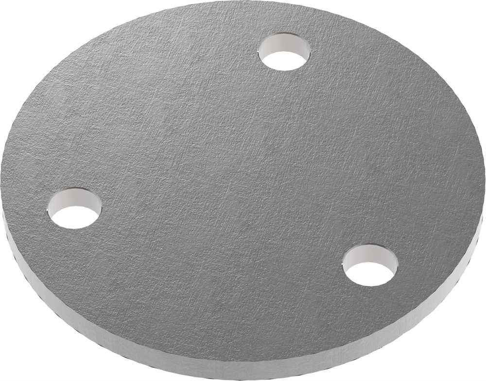 Ankerplatte | Maße: Ø 100x8 mm | Stahl (Roh) S235JR