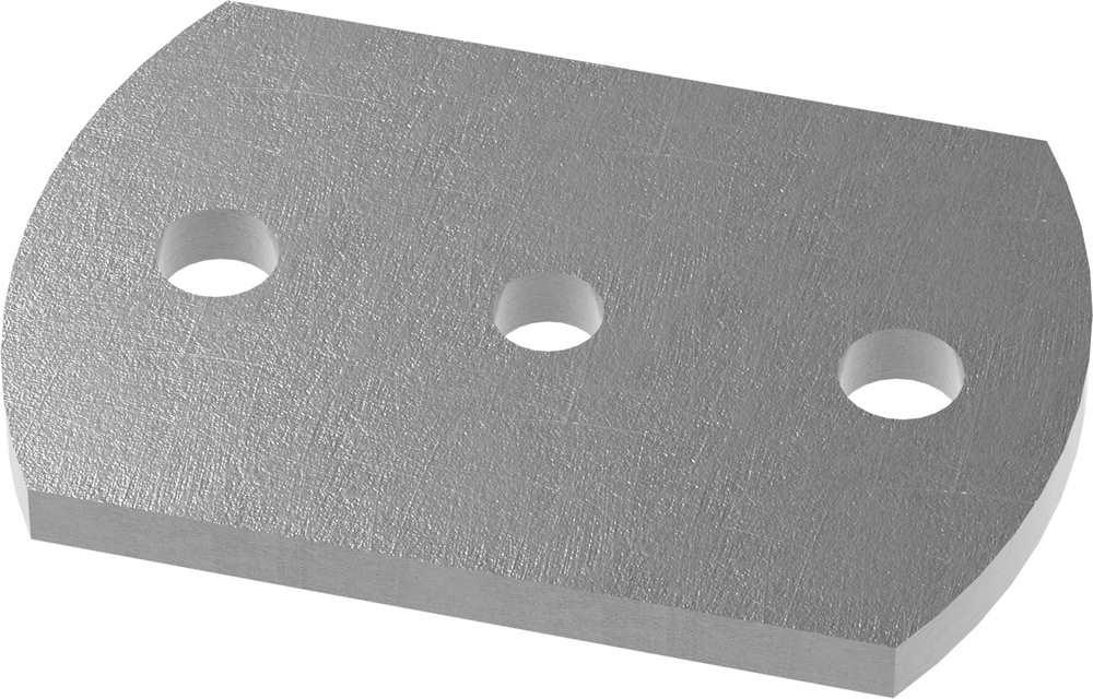 Ankerplatte | Maße: 120x80x8 mm | Stahl (Roh) S235JR