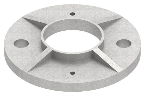 Ankerplatte | Maße: Ø 100 mm | für Rundrohr: Ø 42,4 mm | V4A