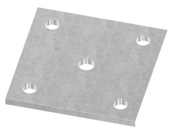 Ankerplatte | Maße: 100x100x6 mm | Stahl (Roh) S235JR