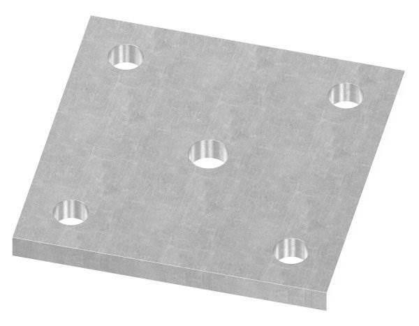 Ankerplatte | Maße: 100x100x8 mm | Stahl (Roh) S235JR