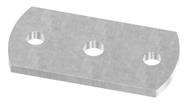 Ankerplatte | Maße: 100x50x6 mm | Stahl (Roh) S235JR