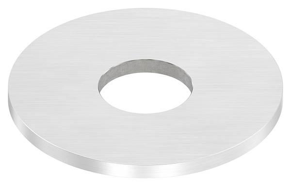 Ankerplatte | Maße: 100x6 mm | Längsschliff und Mittelbohrung | V2A