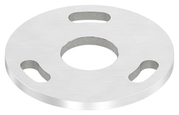 Ankerplatte | Maße: Ø 100x6 mm | Mittelbohrung: Ø 34 mm | V2A