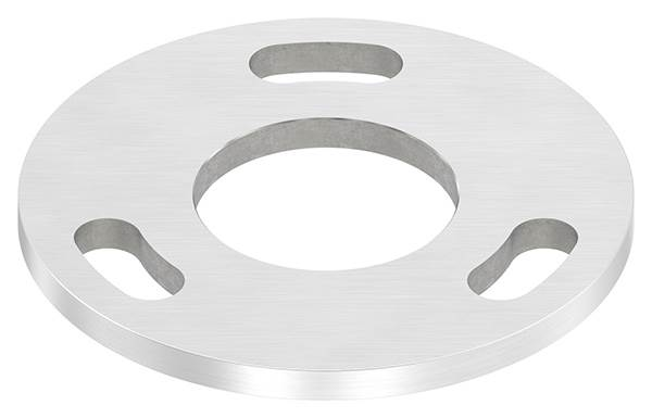 Ankerplatte | Maße: Ø 100x6 mm | Mittelbohrung: Ø 43 mm | V2A