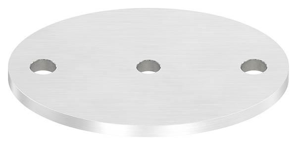 Ankerplatte | Maße: 120 x 88 x 6 mm | mit Zentrierbohrung: Ø 10 mm | V2A