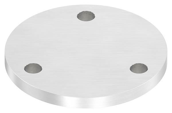 Ankerplatte | Maße: Ø 120x10 mm | mit 3 Bohrungen Ø 13 mm | V2A