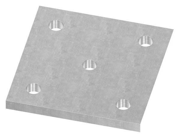 Ankerplatte   Maße: 120x120x10 mm   Stahl (Roh) S235JR