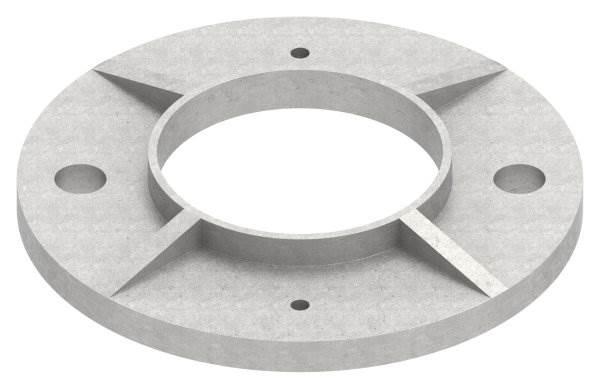 Ankerplatte | Maße: Ø 120x6 mm | für Rundrohr: Ø 60,3 mm | V2A