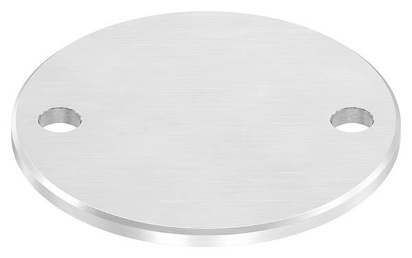 Ankerplatte | Maße: 120x6 mm | Längsschliff + Fase | V2A