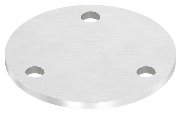 Ankerplatte | Maße: Ø 120x6 mm | mit 3 Bohrungen Ø 11 mm | V2A