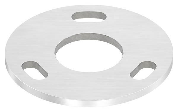 Ankerplatte | Maße: Ø 120x6 mm | Mittelbohrung: Ø 49 mm | V2A