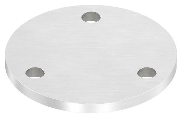 Ankerplatte | Maße: Ø 120x8 mm | mit 3 Bohrungen Ø 11 mm | V2A