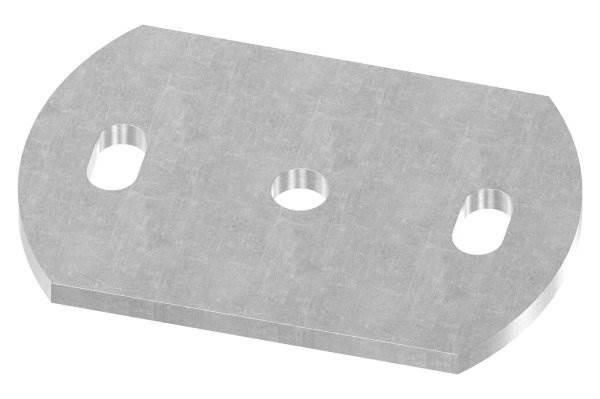 Ankerplatte   Maße: 120x80x6 mm   Stahl (Roh) S235JR