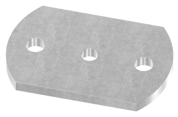 Ankerplatte   Maße: 120x80x8 mm   Stahl (Roh) S235JR