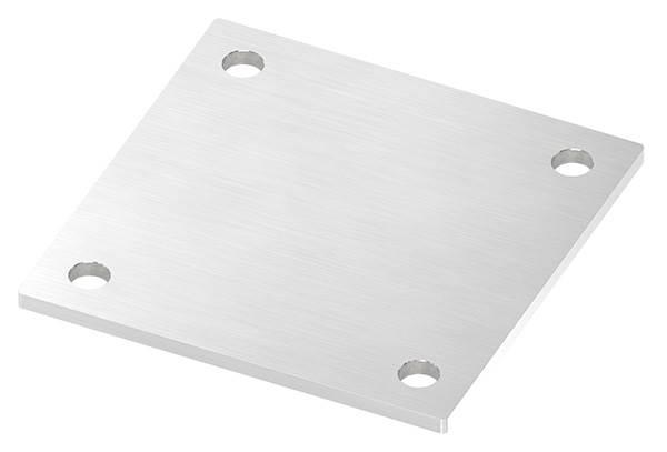 Ankerplatte | Maße: 150 x 150 x 6 mm | mit 4 Bohrungen á Ø 14 mm | V2A