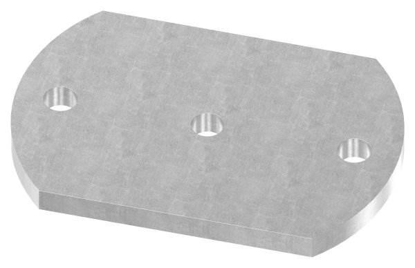Ankerplatte   Maße: 150x100x10 mm   Stahl (Roh) S235JR