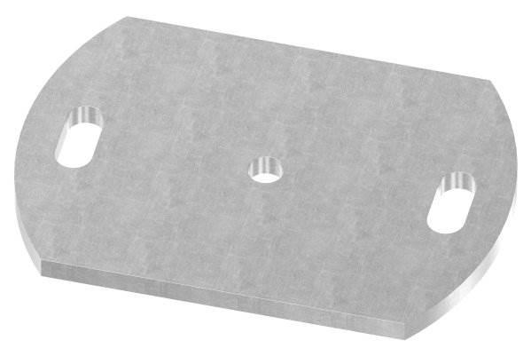 Ankerplatte   Maße: 170x120x8 mm   Stahl (Roh) S235JR