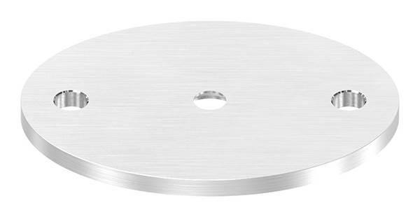Ankerplatte | Maße: 75 x 55 x 4 mm | mit Zentrierbohrung: Ø 10 mm | V2A