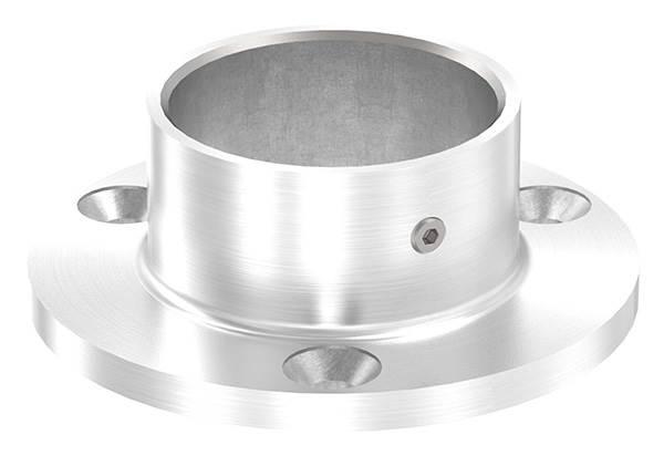 Ankerplatte | Maße: Ø 80 mm | für Rundrohr: Ø 42,4 mm | V2A