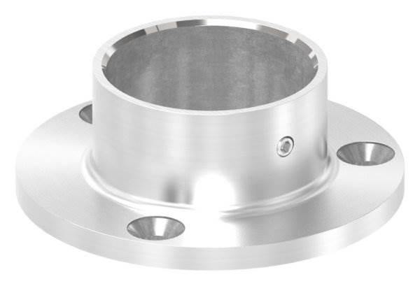 Ankerplatte | Maße: Ø 80x6 mm | für Rundrohr: Ø 42,4 mm | V4A