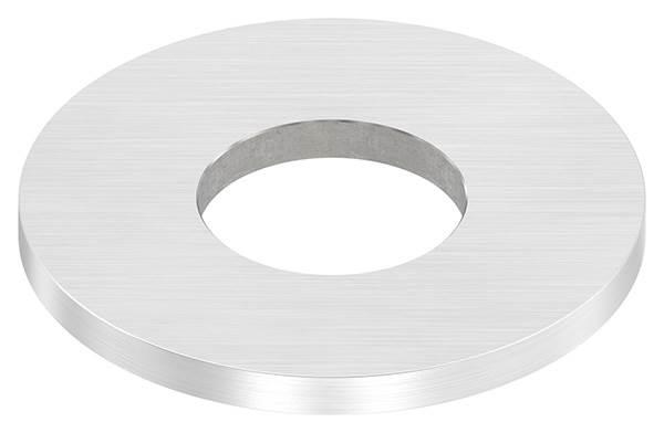 Ankerplatte | Maße: 80x6 mm | Längsschliff und Mittelbohrung | V2A