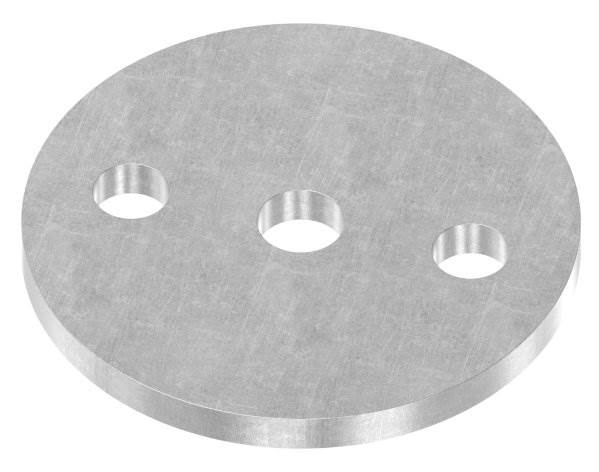 Ankerplatte | Maße: Ø 80x6 mm | Stahl (Roh) S235JR