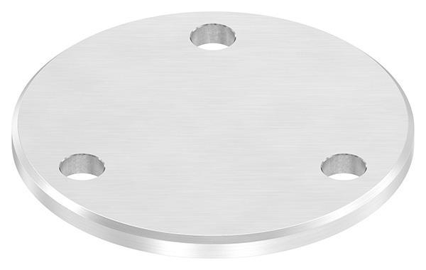 Ankerplatte (rund) 100x6 mm mit Längsschliff + Fase V2A