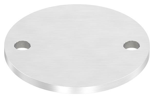 Ankerplatte (rund) 100x6 mm mit Längsschliff V2A