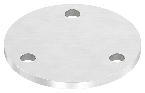 Ankerplatte (rund) 100x6 mm mit Längsschliff V4A