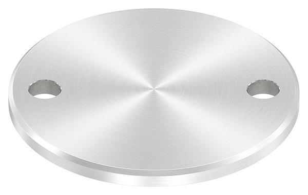 Ankerplatte (rund) 100x6 mm mit Rundschliff + Fase V2A